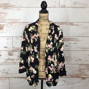 Black Floral Blazer